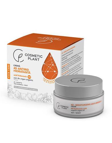 Crema antirid hidratanta acid hialuronic&ulei de argan, 50ml, Cosmetic Plant