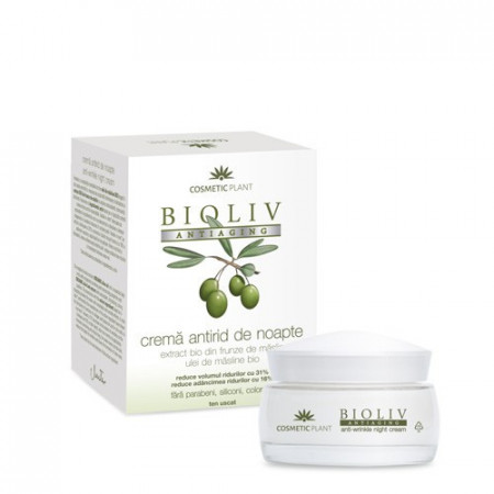 Cremă Bioliv Antiaging antirid de noapte, 50ml, Cosmetic Plant