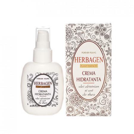 Crema hidratanta cu ulei absinian & unt de shea,100g, Herbagen