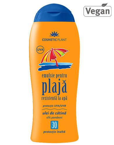 Emulsie plajă rezistentă la apă SPF30, 200ml, Cosmetic Plant Plaja