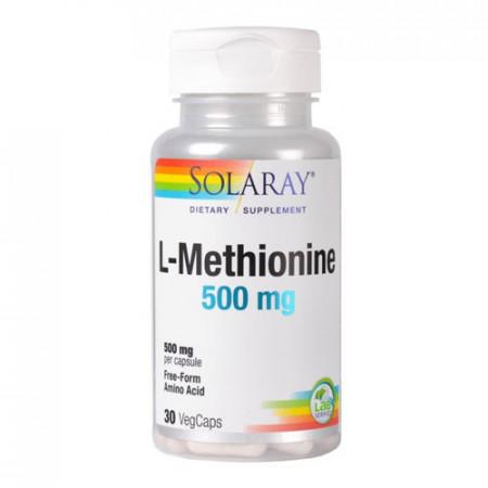 L-Methionine 500mg, 30cps, Solaray
