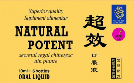 Natural Potent 10ml, 6 fiole, Naturalia Diet