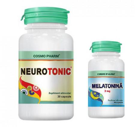 Neurotonic+Melatonina 3mg, 30cps+10cps, Cosmo Pharm