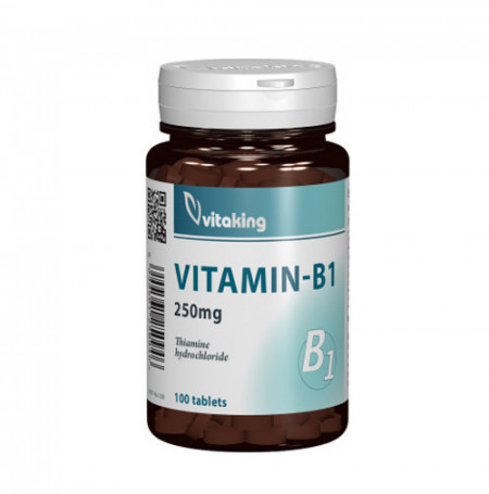 Vitamina B1 (tiamina) 250mg, 100cps, Vitaking