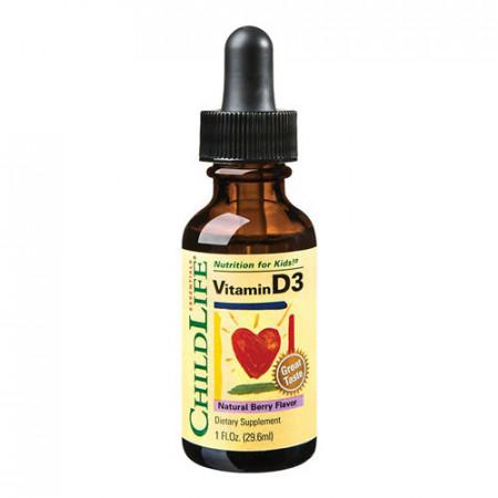 Vitamina D3 500UI(gust de fructe) (copii), 30ml, ChildLife