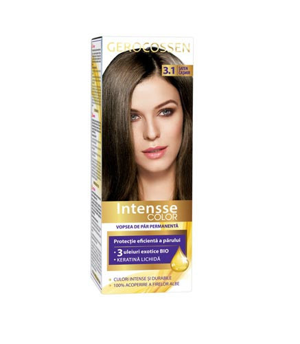 Vopsea de par permanenta Intensse Color 3.1 Saten Casmir, 50 ml, Gerocossen