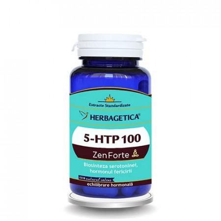 5-HTP 100 Zen Forte, 30cps, Herbagetica