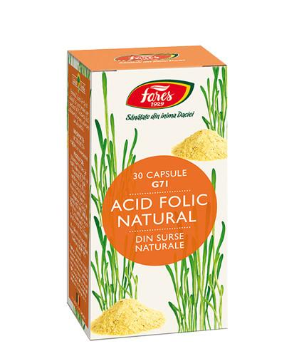 Acid Folic Natural, G71, 30cps, Fares