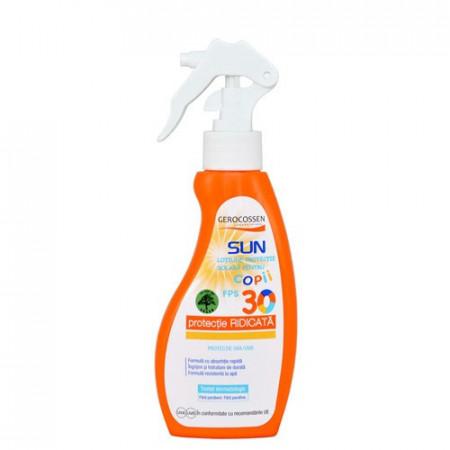 Sun lotiune cu protectie solara copii SPF 30 spray, 200 ml, Gerocossen Plaja