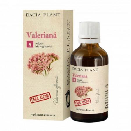 Valeriana tinctura fara alcool, 50ml, Dacia Plant