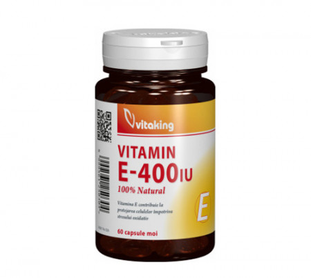 Vitamina E naturala 400UI, 60cps moi, Vitaking