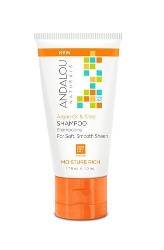 Argan Oil & Shea Moisture Rich Shampoo, 50ml, Andalou