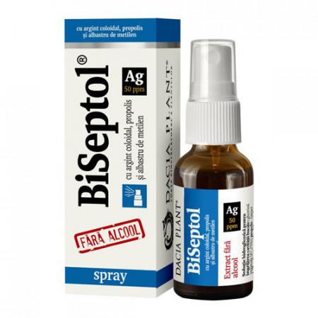 BiSeptol spray cu propolis, 20ml, Dacia Plant