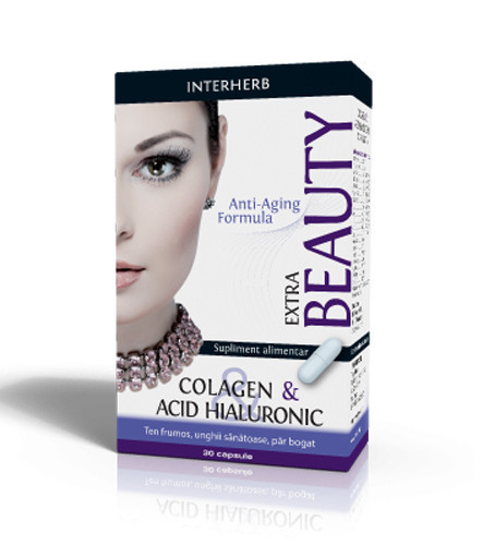Colagen & Acid hialuronic Extra, 30cps, Interherb