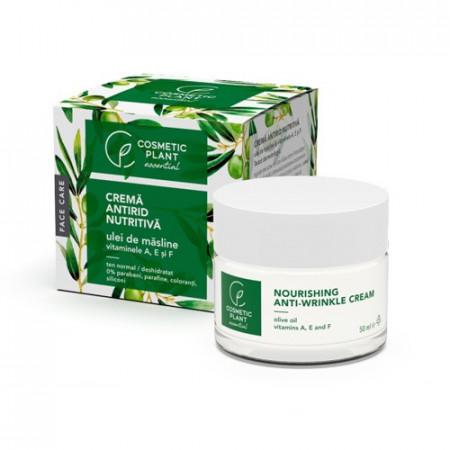 Crema antirid nutritiva ulei de masline & vitaminele A, E si F, 50ml, Cosmetic Plant