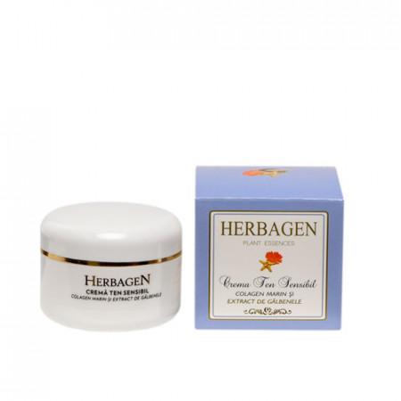 Crema colagen marin și extract de galbenele, 100ml, Herbagen