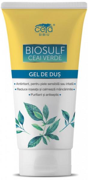 Gel de Dus Biosulf cu Ceai Verde, 200ml, Ceta Sibiu