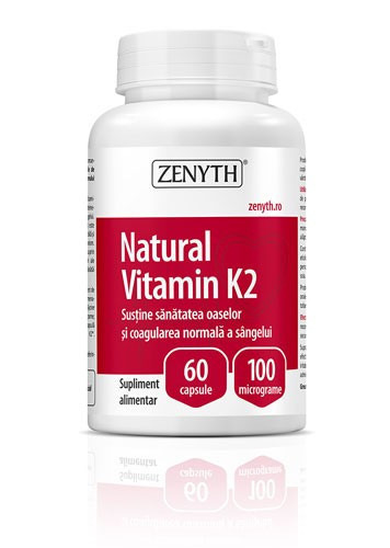 Natural vitamin K2, 60cps, Zenyth Pharmaceuticals
