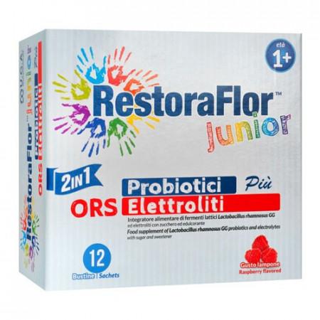 Restoraflor Junior, 12 plicuri bi-compartimentate, 9g pulbere, U.G.A. Nutraceuticals