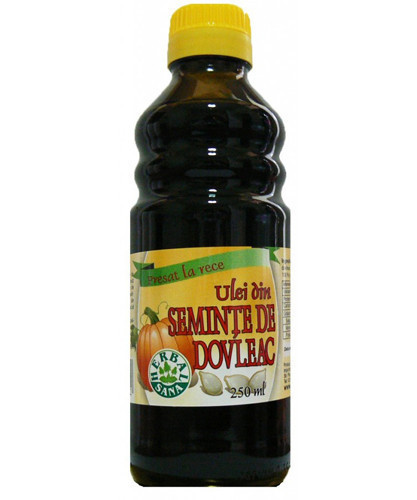 Ulei din seminte de dovleac - presat la rece (uz intern), 250ml, Herbavit