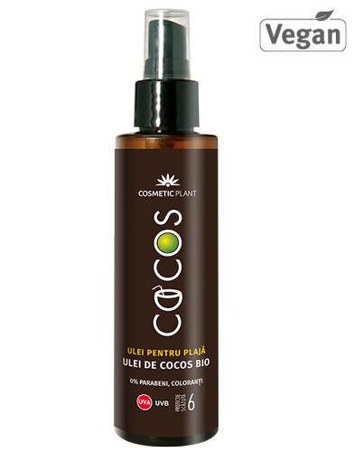 Ulei plaja SPF6, ulei cocos, 150ml, Cosmetic Plant Plaja