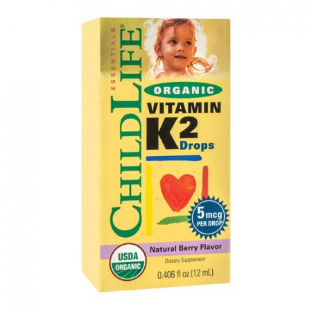 Vitamin K2 (copii) 15 mcg, 12ml, ChildLife Essentials