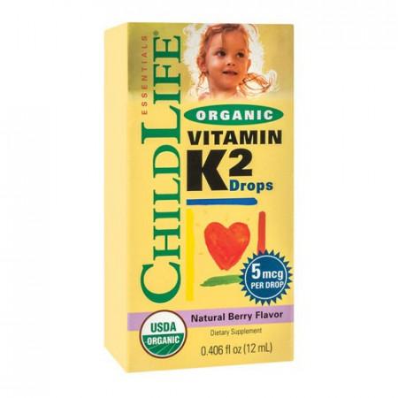 Vitamin K2 (copii) 15 mcg, 7.5ml, ChildLife Essentials