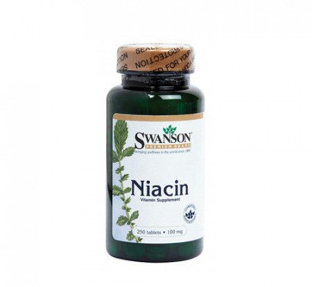 Vitamina B3 (niacina) 100mg, 250cps, Swanson
