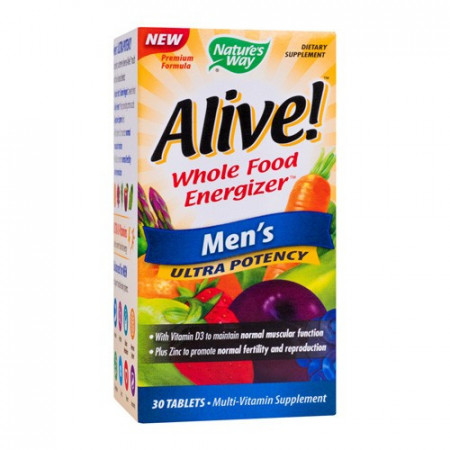 Alive men's ultra, 30cps, Nature's Way