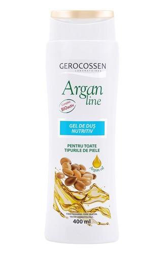 Argan line gel de dus nutritiv, 400 ml, Gerocossen