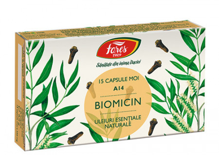 Biomicin (Antibiotic natural), A14, 15cps, Fares