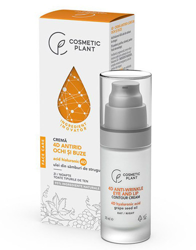 Crema antirid contur ochi si buze 4D, 30ml, Cosmetic Plant