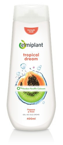 Gel de dus crema Tropical Dream(papaya&kiwi), 400ml, Elmiplant