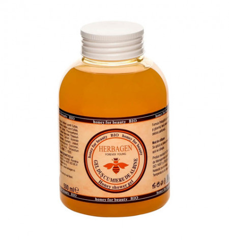 Gel de dus cu miere de albine Bio, 500ml, Herbagen