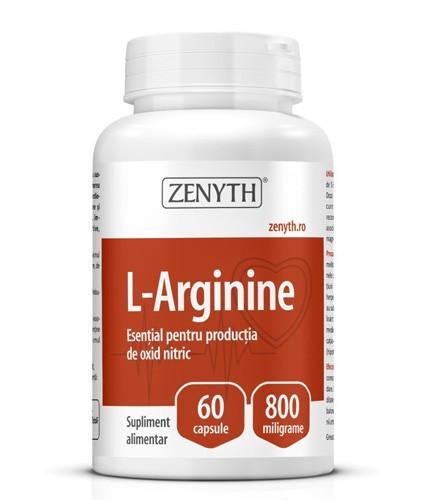 L-Arginine, 60cps, Zenyth Pharmaceuticals