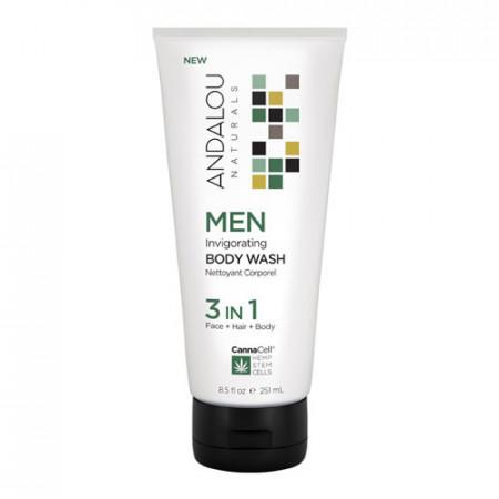MEN Invigorating Body Wash 3 IN 1, 251ml, Andalou