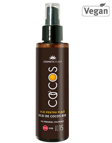 Ulei plaja SPF15, ulei cocos, 150ml, Cosmetic Plant Plaja