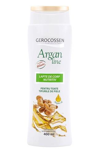 Argan line lapte de corp nutritiv, 400 ml, Gerocossen