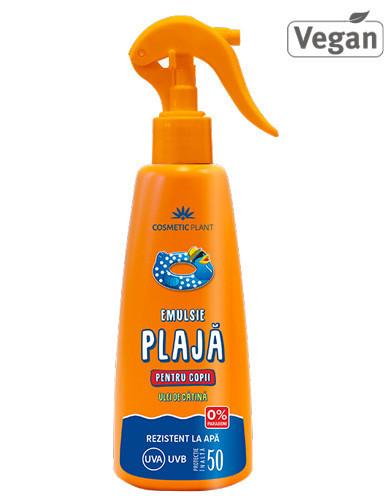Emulsie spray pt copii SPF50, 200ml, Cosmetic Plant Plaja