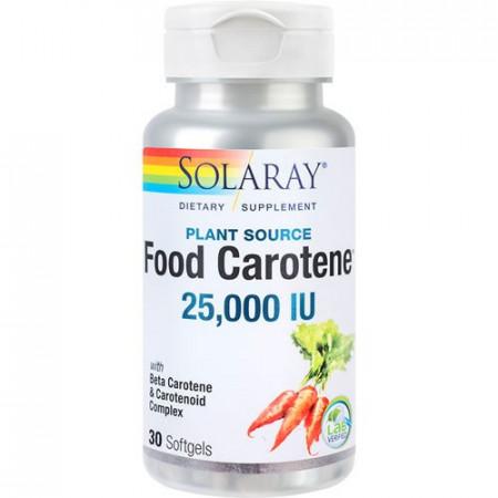 Food Carotene 25000UI, 30cps, Solaray
