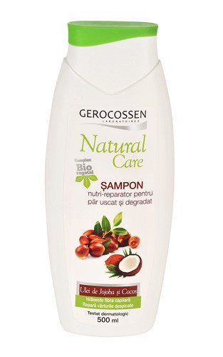 Natural care sampon nutri-reparator pentru par uscat si degradat, 500 ml, Gerocossen