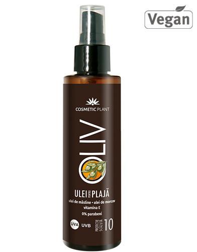 Oliv ulei plaja SPF10, ulei morcov, 150ml, Cosmetic Plant Plaja