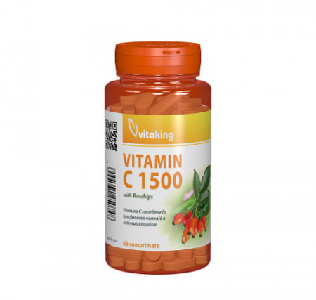 Vitamina C 1500 mg cu macese, 60cps, Vitaking