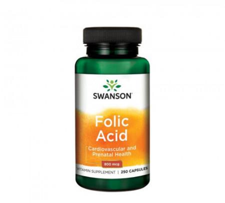 Acid folic 800mcg, 250cps, Swanson