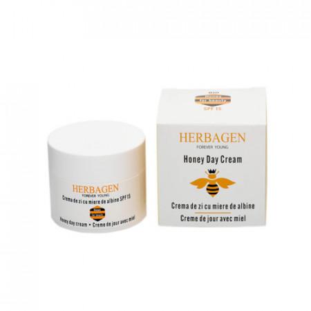Crema de zi SPF 15 cu miere BIO de albine, 50g, Herbagen