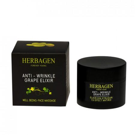 Crema elixir din struguri efect antirid, 50g, Herbagen