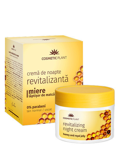 Crema revitalizanta de noapte cu miere&laptisor de matca, 50ml, Cosmetic Plant