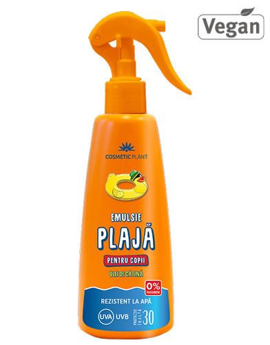 Emulsie spray pt copii SPF30, 200ml, Cosmetic Plant Plaja