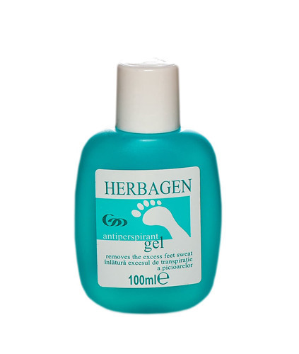 Gel antiperspirant picioare, 100ml, Herbagen