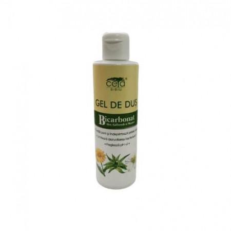 Gel de dus cu Bicarbonat, Aloe, Galbenele si Musetel, flacon, 200ml, Ceta Sibiu